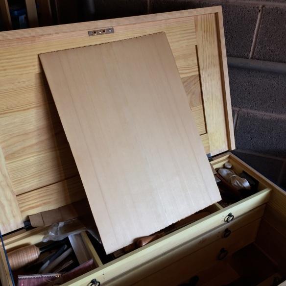 The surfaced yellow cedar panel