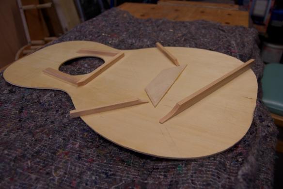 The flat braces and bridge plate.