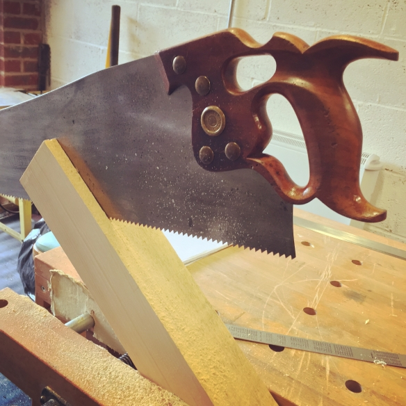 Ripping the spruce stock for the soundboard bracing