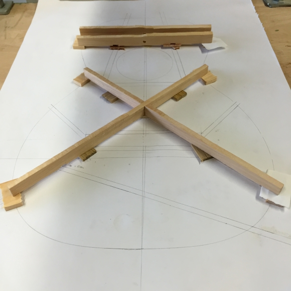 Testing the braces on the bracing cradle