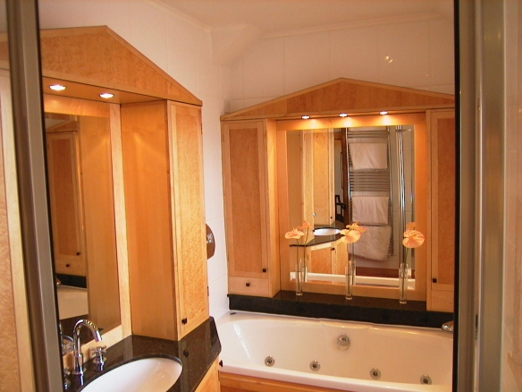 Custom fitted bathroom cabinets