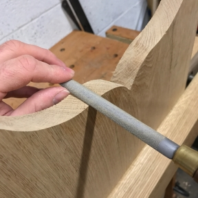... and the 13 grain rasp refines the curves